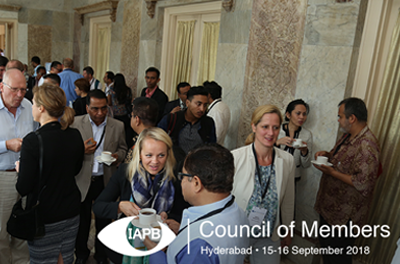 Delegates during a coffee break at the Council of Members 2017 in Kathmandu