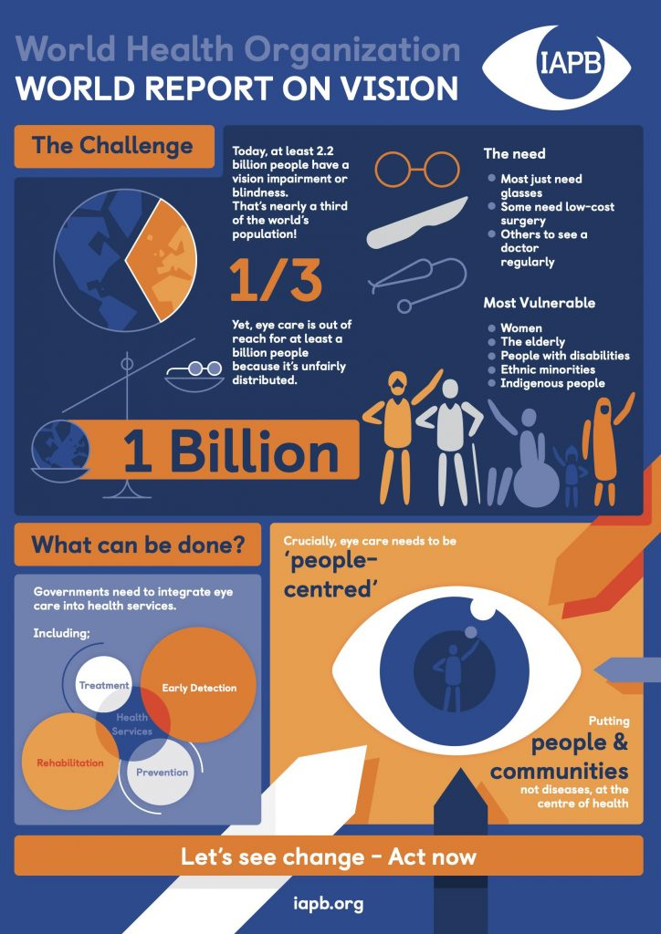 World Report on Vision infographic