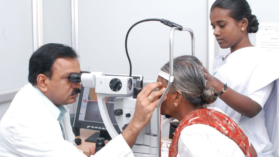 Retinal Clinic at Aravind/ Story: On World Diabetes Day, Annike Spiller on how the Trust is tackling blindness caused by diabetes in India.