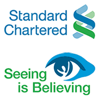 Standard Chartered Bank and Seeing is Believing Logo