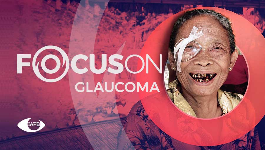 Focus On: Webinars. Focus On Glaucoma campaign picture; old woman smiling