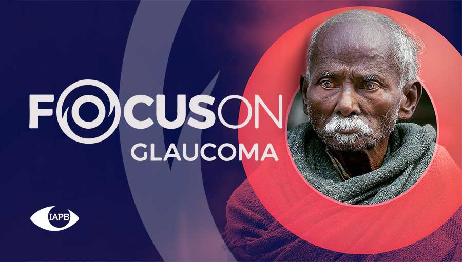 old man; focus on glaucoma campaign picture
