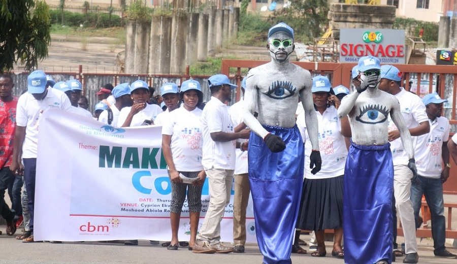 Street Walk during the 2017 World Sight Day led by Mascots in the City of Abuja