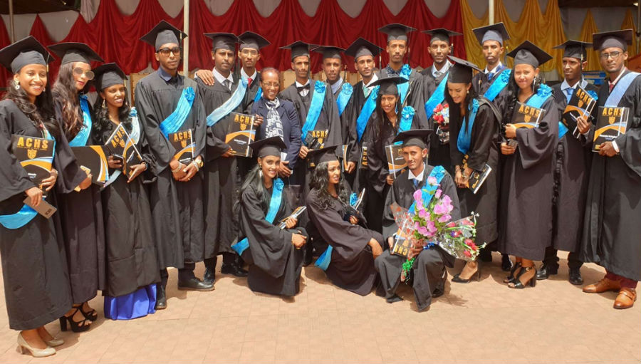First batch of optometrists at their graduation ceremony/Story: A landmark achievement – Eritrea meets V2020 goal for refractive errors human resources
