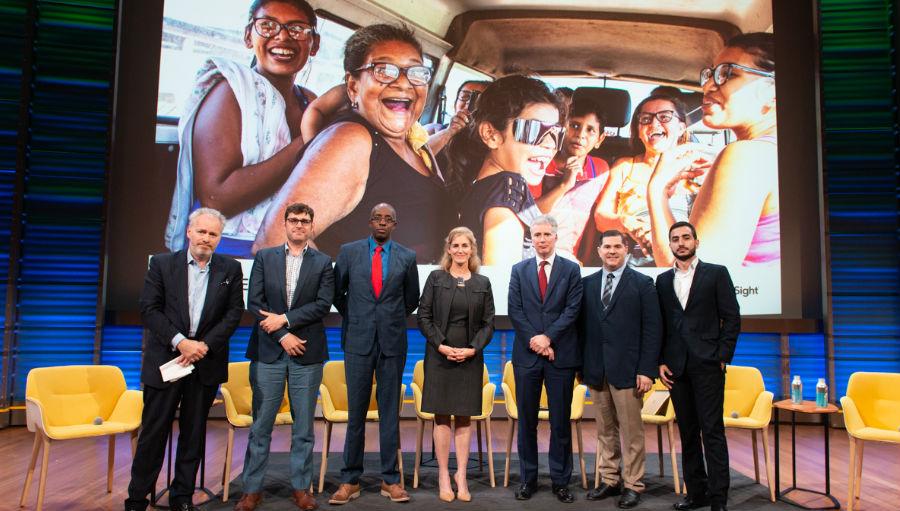The panel at the debate/ Story:Global Panel debate raises the economic, developmental, and health merits of vision care