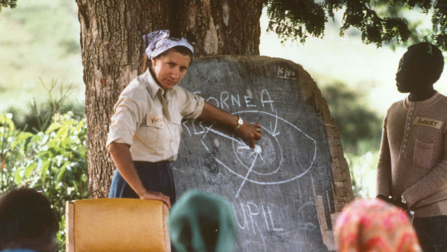 Victoria giving training in Saradidi,Kenya 1980