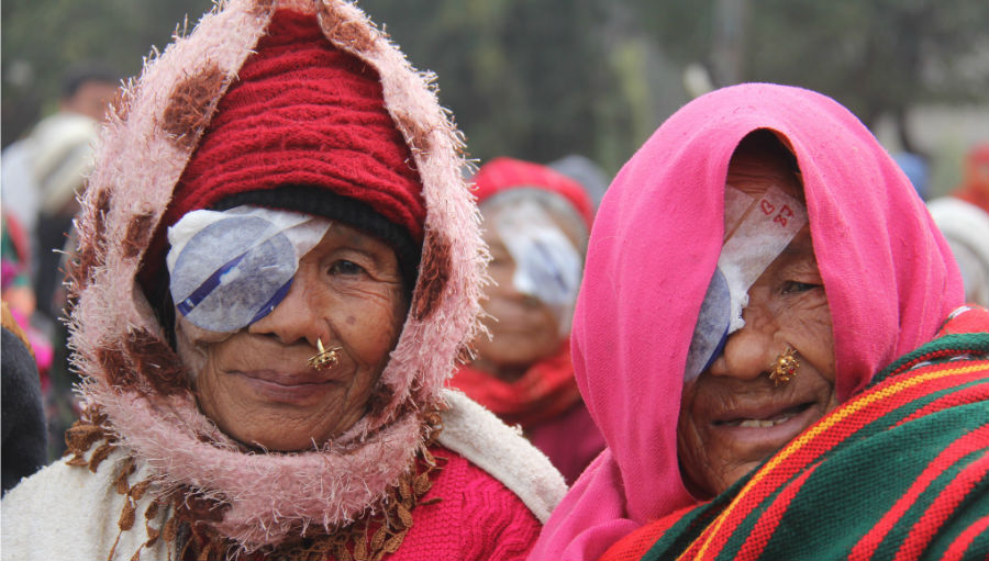 Two women after cataract surgery