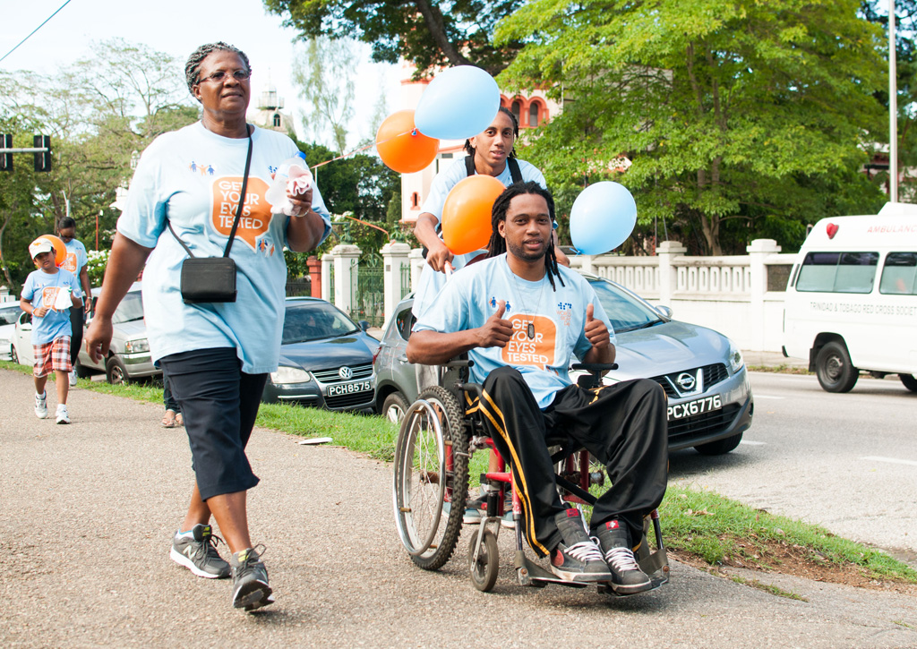 WSD13, Walk, Volunteers for World Sight Day, Trinidad and Tobago