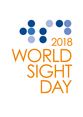 World Sight Day 2018 Logo - English Orange