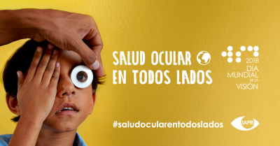 Social Visual in Spanish: Child taking an eye test