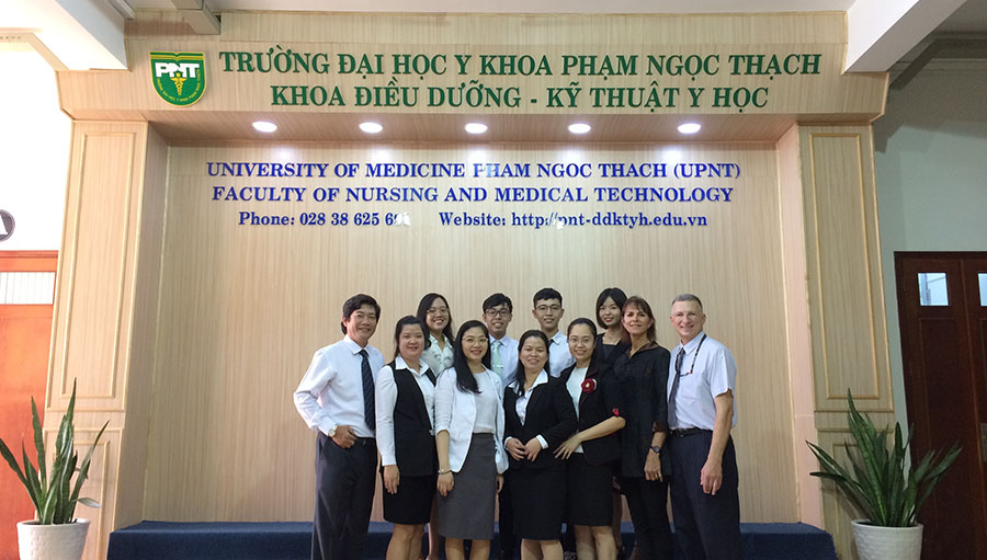 Optometry outside the box: global development in Vietnam; With the students in Vietnam