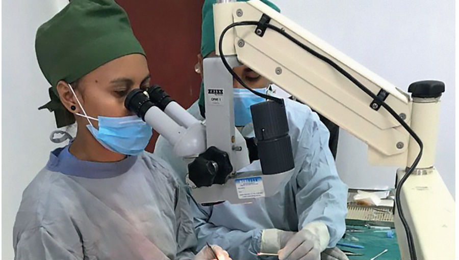 Working in the OR/ Story: European Society for International Ophthalmology Congress