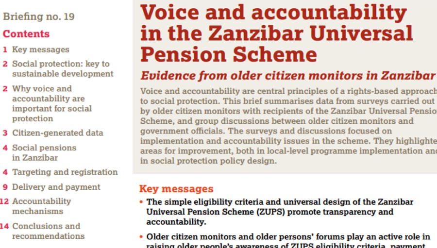 Collective Efforts: Zanzibar's Universal Pension Scheme and HelpAge Int. Zanzibar Universal Pension Scheme