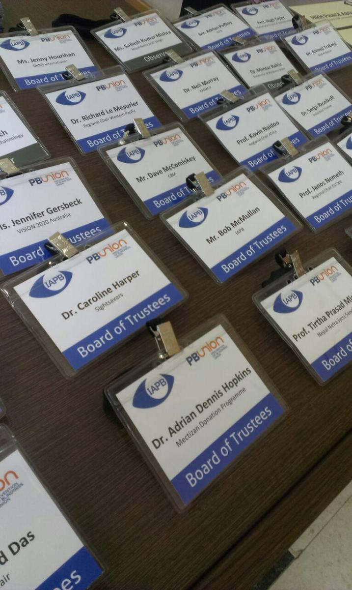 Badges, Board of Trustees meetings, Dubai 2015