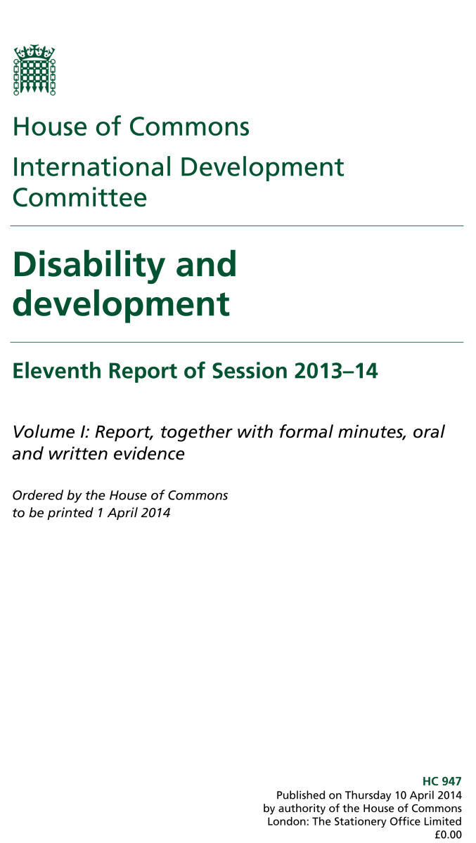 Disability & Development report, IDC