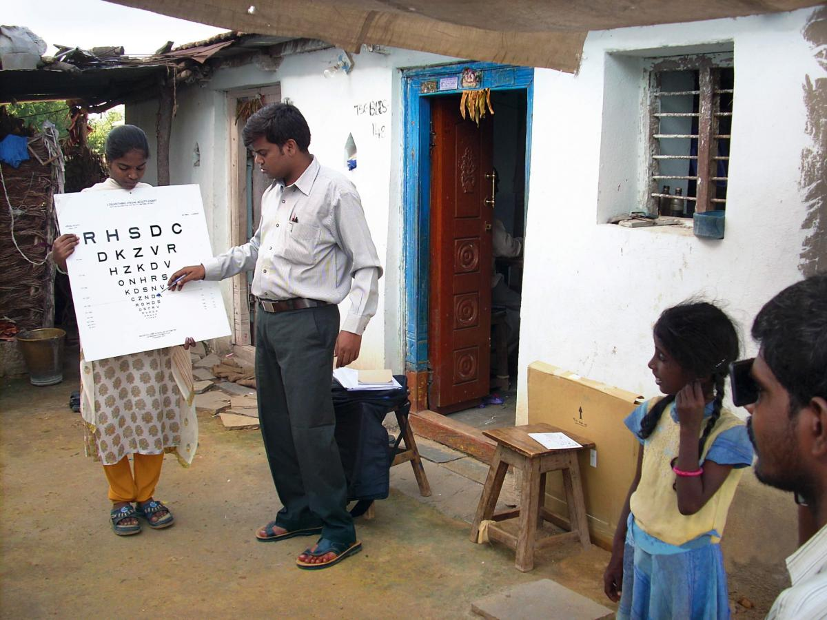 Eye screening, India. Image courtesy: LVPEI