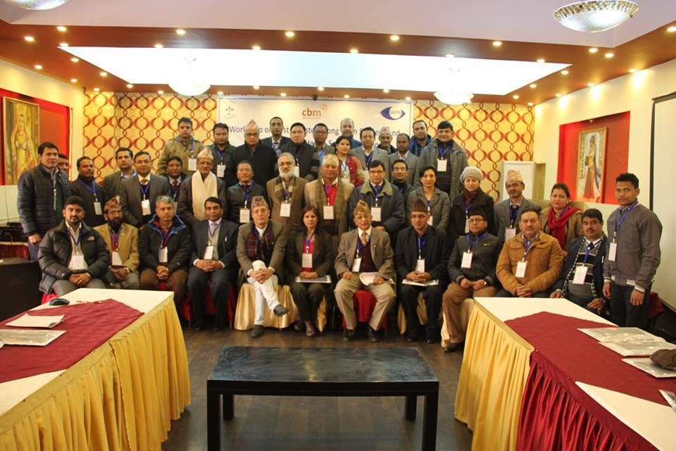 Delegates from the Post-Disaster Workshop in Nepal, Jan 2016