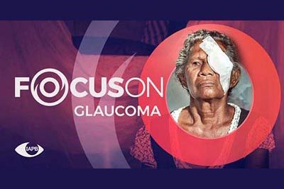 Old woman with a patch; Focus On Glaucoma campaign picture