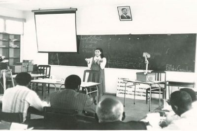Victoria teaching the 4 rules in Kenya 1981