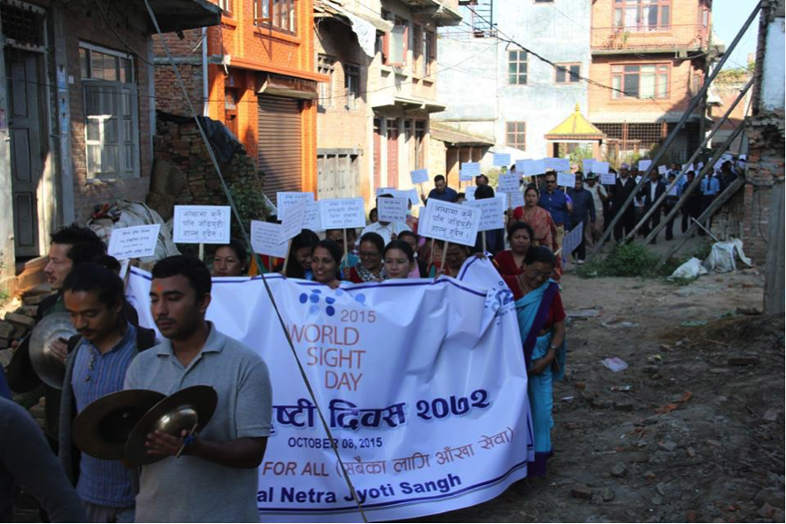 Participants at the walk Image courtesy: Nepal Netra Jyoti Sangh
