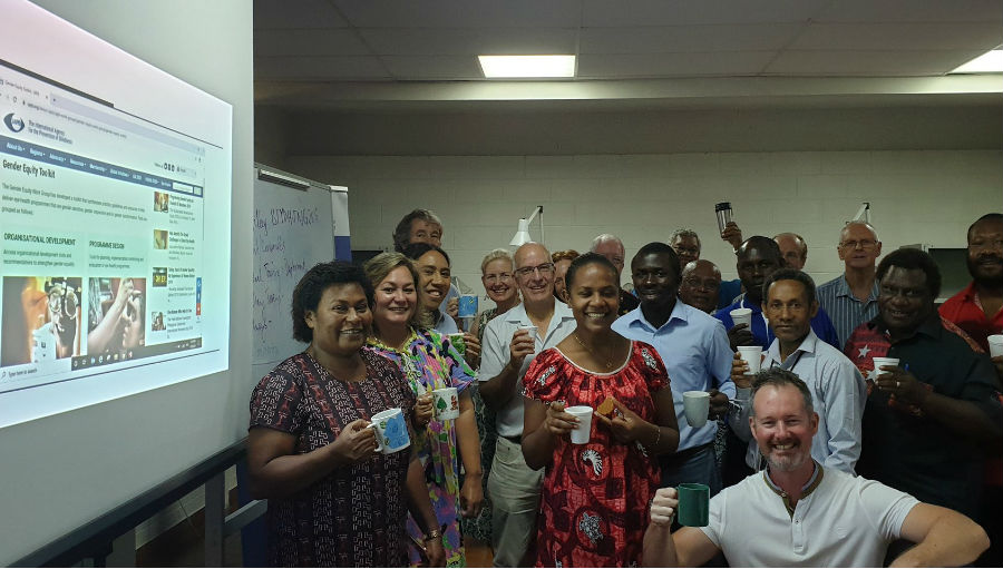 IAPB in the Western Pacific held Tea-for-Toolkit